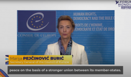 Marija Pejcinovic Buric on the Council of Europe actions about new technologies